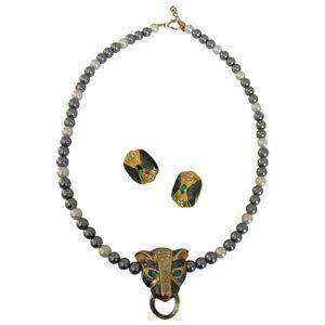 🇨🇦 Vintage Kenneth Jay Lane jewelry set